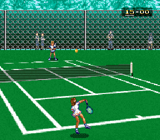 Screenshot Thumbnail / Media File 1 for Ace o Nerae! (Japan) [En by RPGOne v1.2] (~Aim for the Ace! - Ace Tennis)